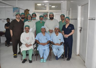 Surgeons at ENT Operating theatre